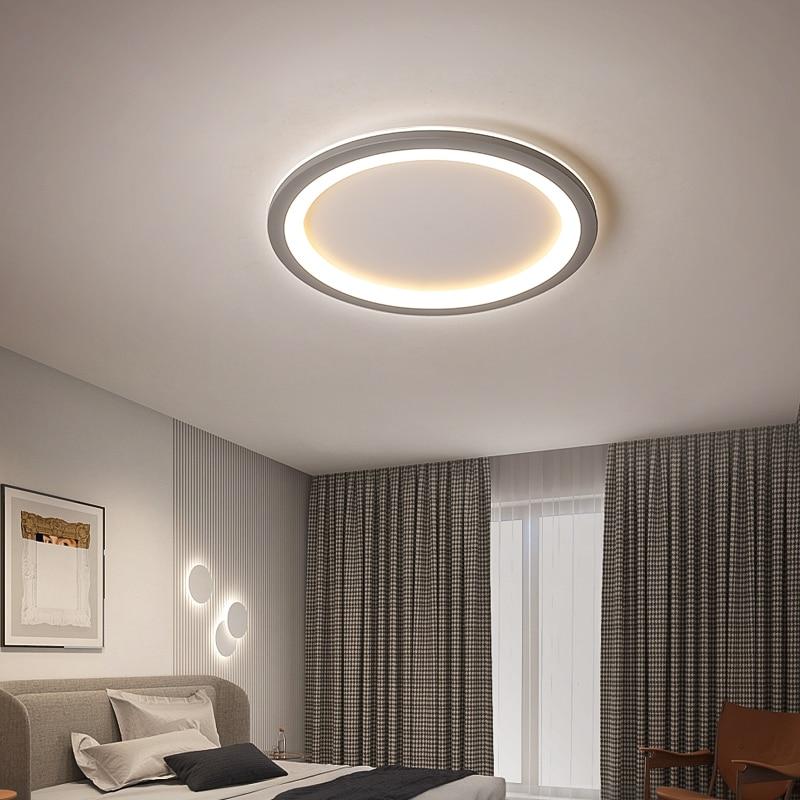 Işıklar ve Aydınlatma'ten Tavan Işıkları'de Basit Modern Led Tavan yatak odası için lamba Çalışma Mutfak koridor Balkon ev dekorasyon ultra ince Tavan Işıkları Fikstürü 90 220V