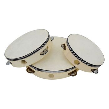 Instrumenty muzyczne tamburyn bęben dzieci muzyczne edukacyjne tamburyn okrągłe instrumenty perkusyjne instrumenty perkusyjne tanie i dobre opinie Other CN (pochodzenie) 4-10 inches Konwencjonalna gumowaną płyta elektroniczna 10 cal FA531 Kożuch