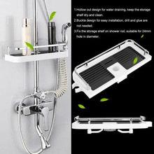 Largre baño Polo estante ducha de Caddy organizador Rack soporte de la  bandeja(China) 42a3cdccce82