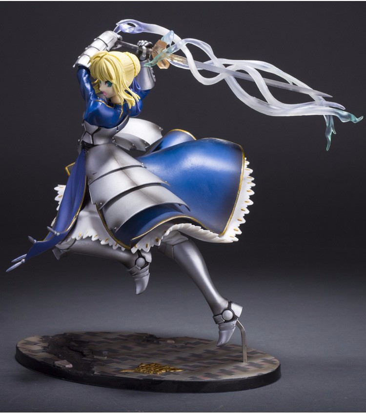 MG Anime Figure Fate Stay Night Saber Fate Zero With Light PVC Action Figure Collection Model Toy 25cm anime figurine alter fate stay night archer blade works pvc action figure model toy 25cm