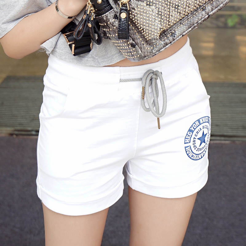 2018 new summer Fashion casual cotton plus size loose withe black gray red blue female women girls shorts clothes