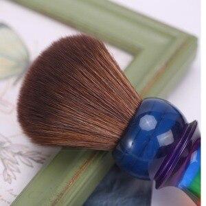Image 5 - Yaqi 26 Mm Regenboog Bruin Synthetisch Haar Scheren Borstels