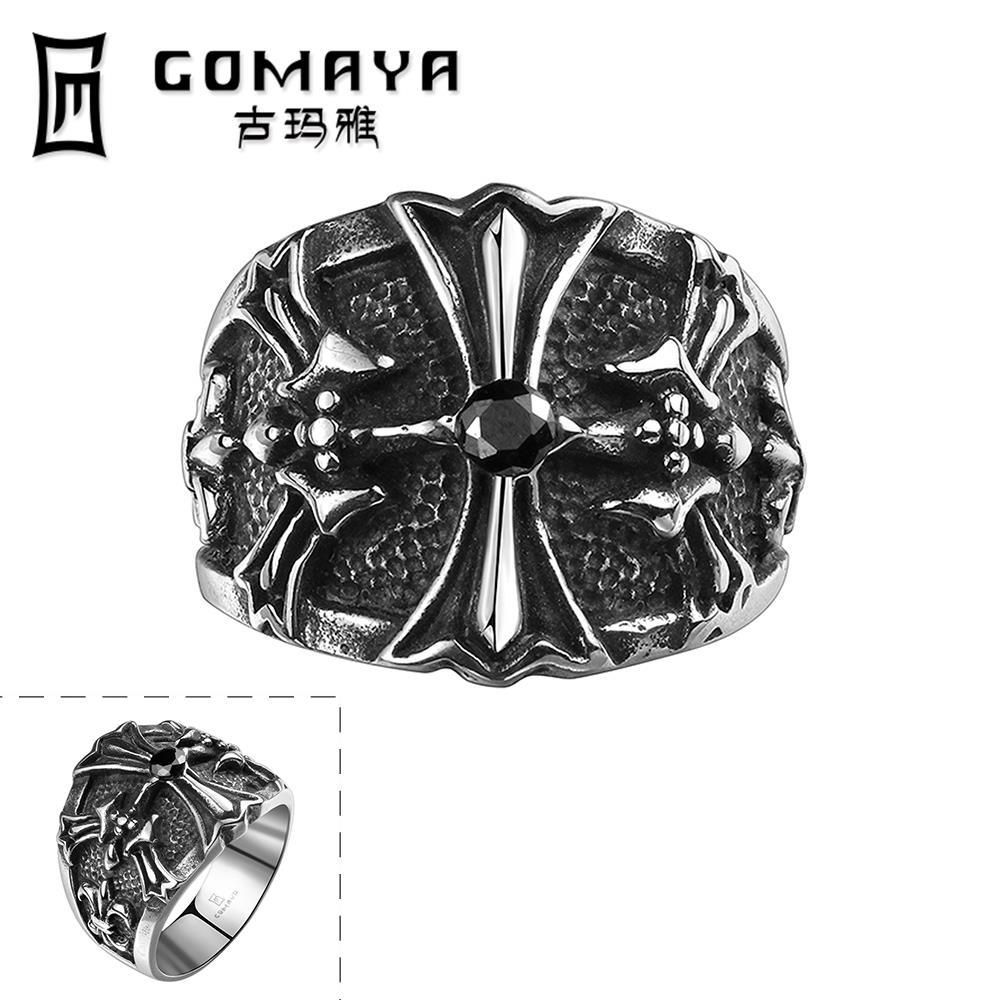 44f10d8096c7 Nueva moda joyería clásico anillos de boda de compromiso canal-set  eternidad 316L Acero inoxidable hombres anillos