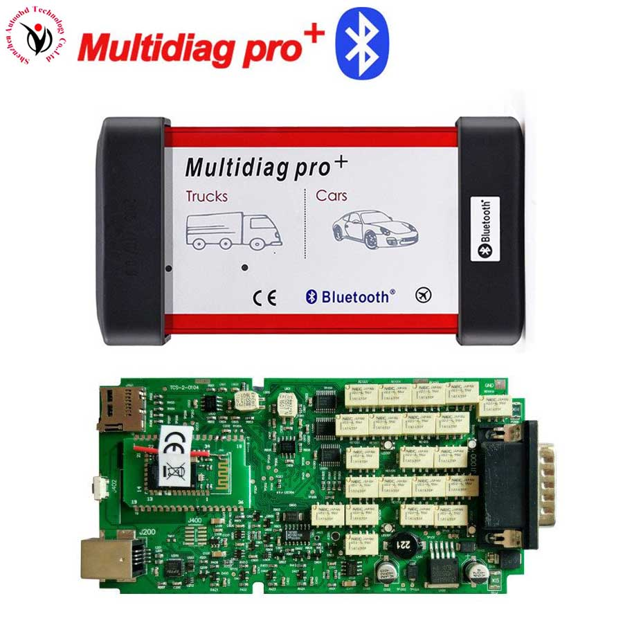 Bateau libre VD TCS CDP Unique Vert PCB Conseil Multidiag Pro + Avec Bluetooth OBDII Outil de Diagnostic de Maintenance avec multi -fonctions