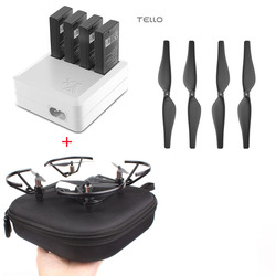 Charger 4in1 For DJI TELLO Multi Battery Charging Hub + Carrying Case Storage Box + Quick-Release Propellers Propeller