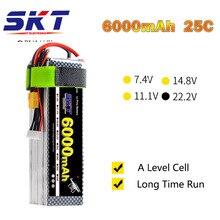 SKT 2018 RC Lipo Bateria 22.2 V 6000 mAh 25C Max 100C 6 S 22.2 V RC LiPo Bateria AKKU Para Avião Helicóptero Zangão Carro Tanque