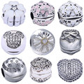 925 Silver Bead for Pandora Fixed Position Charms DIY Accessories 1 Piece Open S925 Sterling Beads for Jewelry Making Charm
