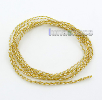LN005914 Semi-finished Extremely Soft PVC OCC Golden + Silver Plated Mixed Bulk DIY Earphone Cable Wires