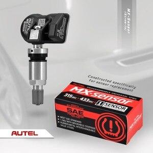 Image 5 - Autel mx sensor 433mhz 315mhz 2 in1 mx sensor universal pressão dos pneus braçadeira de programação em autel tpms almofada ts601 ts401 tpms ferramenta