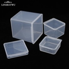 Hot Small Square Clear Plastic Storage Box Storage Box for jewelry Diamond Embroidery Craft Bead Pill Home Storage Supply Tools(China)