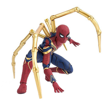 Marvel Avengers Infinity War Iron Spiderman & TAMASHII stage 15cm BJD Spider man Super Hero Figure Model Toys for Children