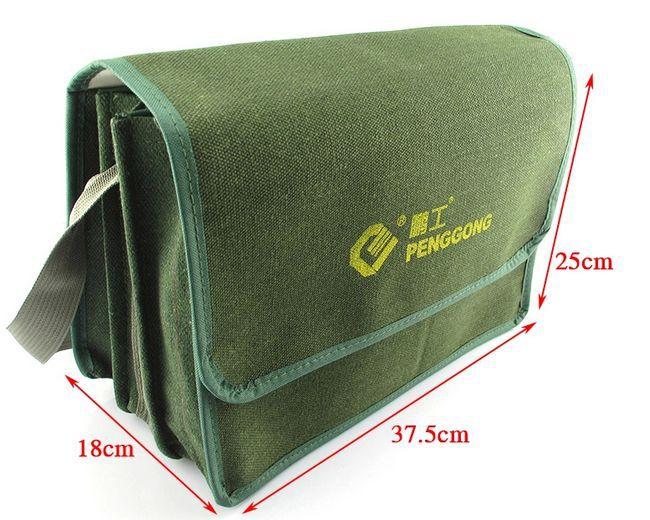 SunRed haute qualité vert électronique 2014 nouvelle toile mixte avec coton multifonction épaule sac de réparation NO 107 livraison gratuite dans Armoires à outils de Outils