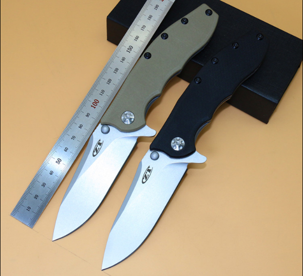 Hot High Quality 59 60HRC 9CR13MOV Blade G10 titanium handle folding font b knife b font