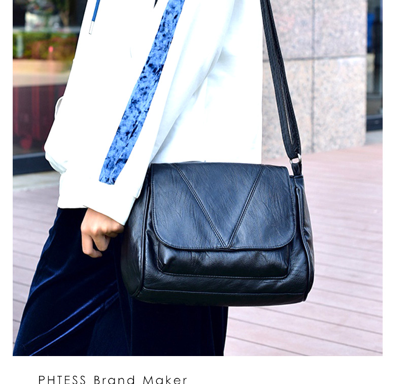 18 Women Messenger Bags Crossbody Soft Leather Shoulder Female Bag Flap Bolsa Feminina Designer Handbags High Quality Brand 6