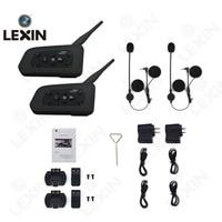 LEXIN 2pcs R6 BT Multi Interphone Bluetooth Intercom Motorcycle Wireless Headphones Accessories 1200M Helmet Headset 6