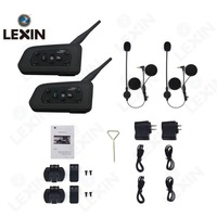 LEXIN 2pcs R6 BT Multi Interphone Bluetooth Intercom Motorcycle Wireless Headphones Accessories 1200M Helmet Headset 6