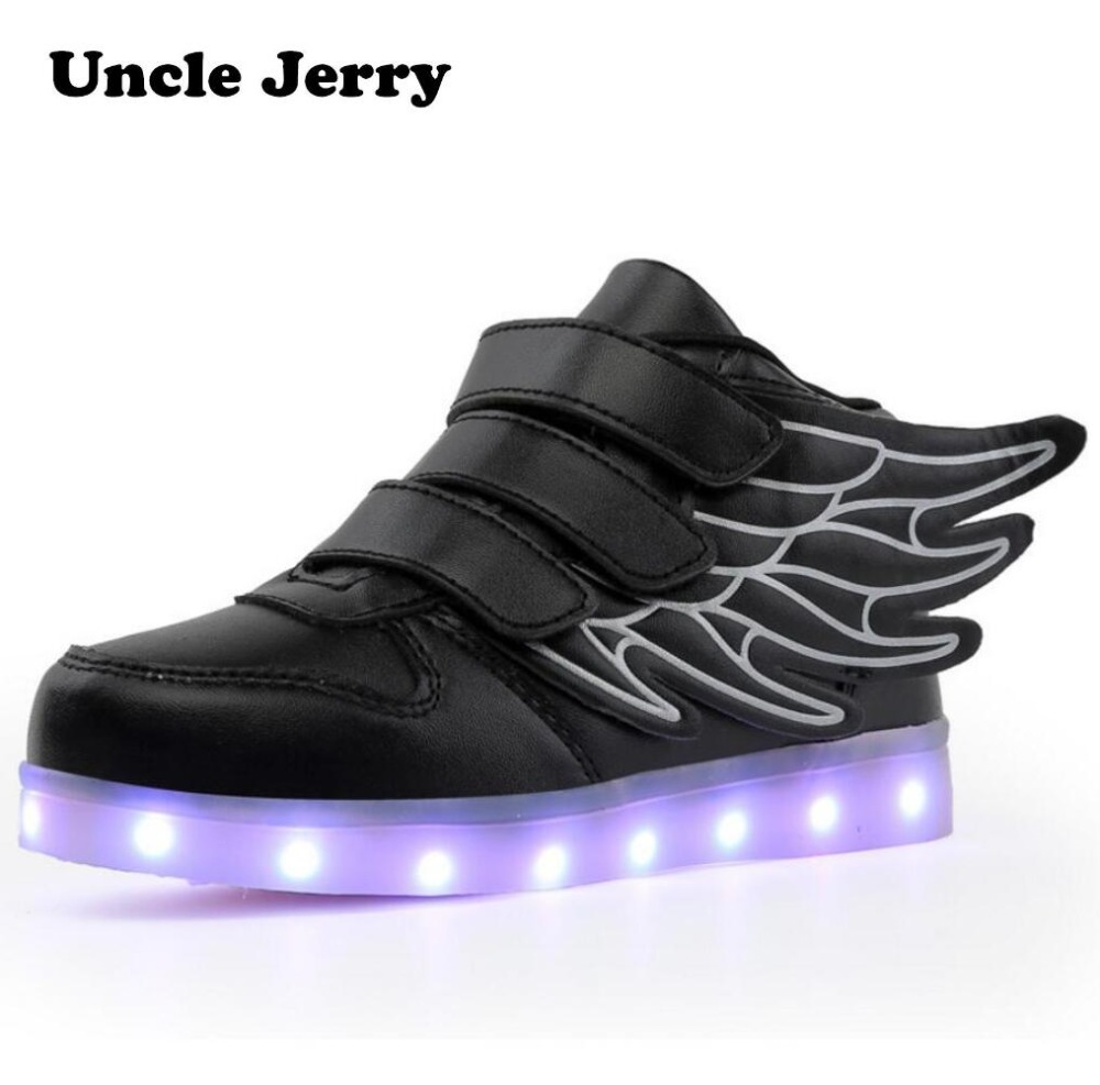 boys laceup flashing kids up trainers shoes usb new charge itm mg girls led light sneakers