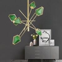 Современный светодиодный спираль Золотой светодиодный подвесной светильник зеленый белый подвесной светильник для фойе лестницы для гост