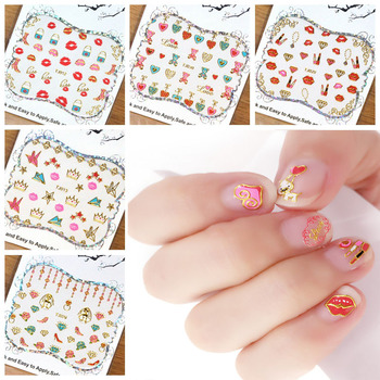 30pcs Colorful 3D Nail Sticker Lip/High Heel/Love Design Nail Decal For Nails Decoration Nail Art Manicure TJ1-30 image