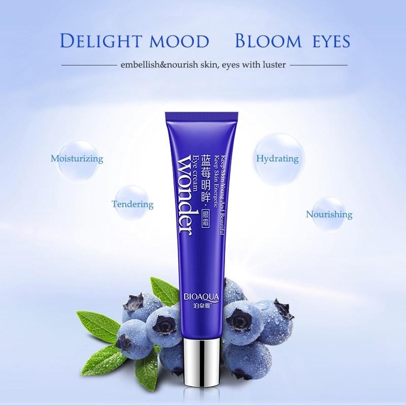 BIOAQUA blueberry eye crema ojo cuidado nutritivo hidratante calmante - Cuidado de la piel - foto 5