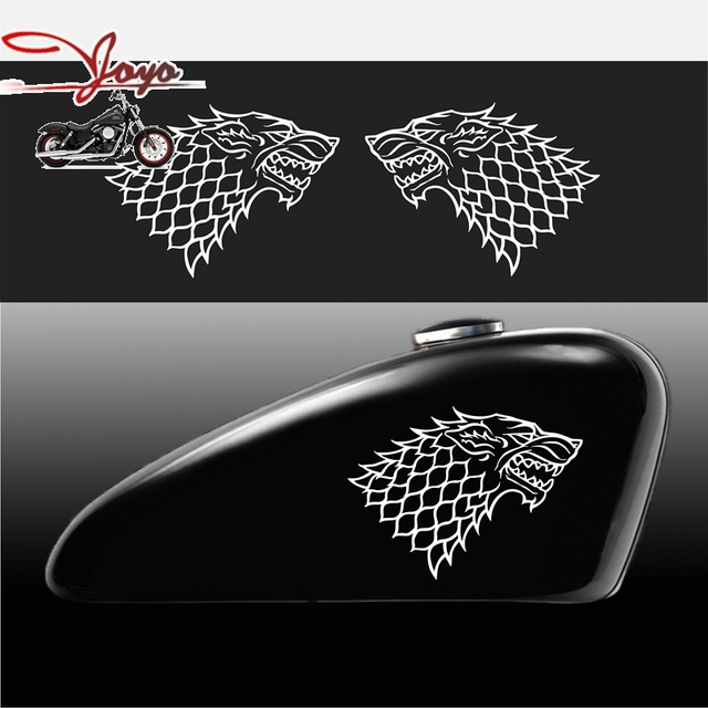 Game of throne stark house logo decal sticker vinyl decals for motorcycle car computer windows wall