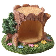 European Resin Tree Hole Ornaments Home Decoration Accessories Cartoon Model Miniature Figurines Birthday Gifts Craft