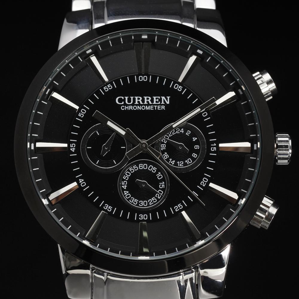 Prix pour Top nouveau curren ultrl grand cadran rétro design de mode d'affaires horloge de luxe en acier inoxydable homme mâle poignet quartz sport montre 8001