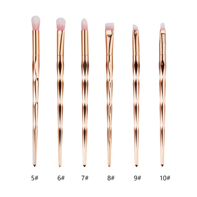 1Pcs Diamond Rose Gold Makeup Brush Set Mermaid Fishtail Shaped Foundation Powder Eyeshadow Cosmetics Brushes Tools #259001