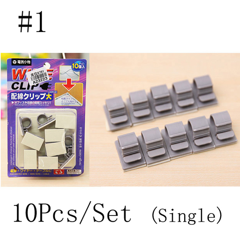 1Set 3 Types Desktop Solid Clamp Cable Cord Wire Line Organizer ...