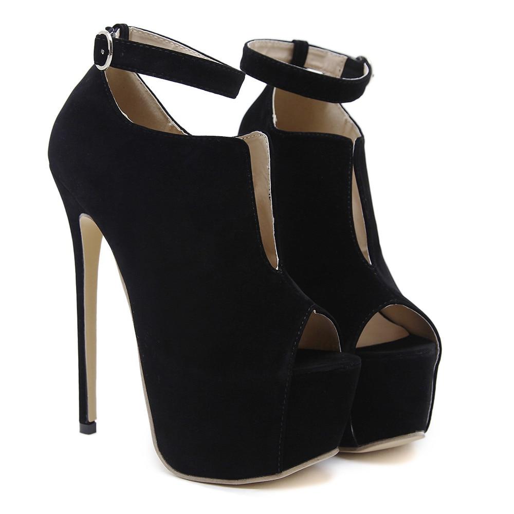 Haute De Talons Mince Chaussures Automne Pompes Asumer Boucle Talon Printemps Hauts Dames Femmes Peep Noir Toe Sexy Bal Super Troupeau UqSwPSFzx