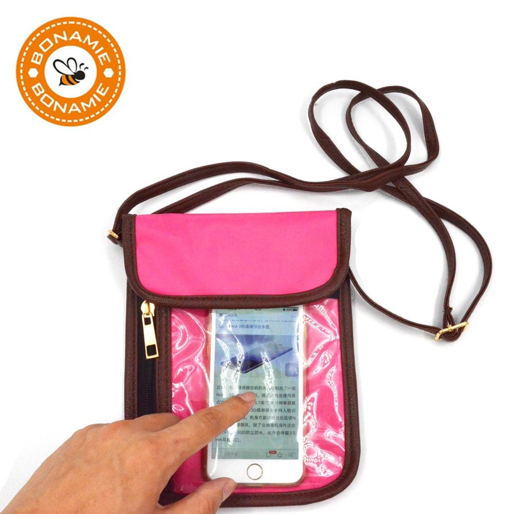 BONAMIE Marcă Femei Ecran Touch Screen Cell Phone Crossbody Pungi - Genți