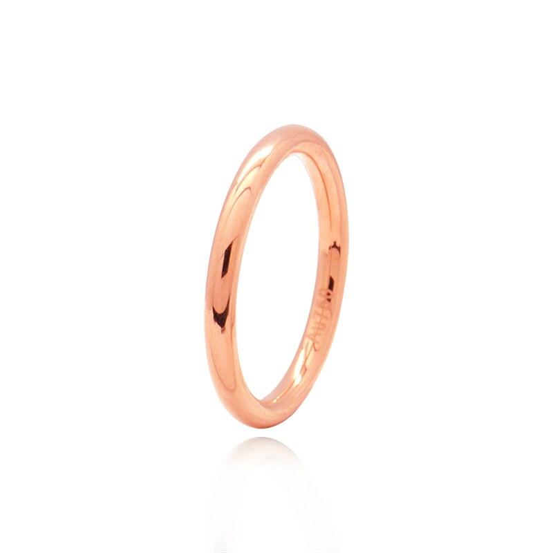 Здесь можно купить  Classic 18KT AU750 True Solid Gold Rose Color Stackable Tail Rings Bands for Women Female Girl Gift Fine Jewelry  Ювелирные изделия и часы