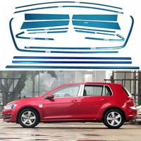 20 10Pcs Set Full Window Trim Decoration Stainless Steel Strips For Volkswagen VW Golf 7th 2013