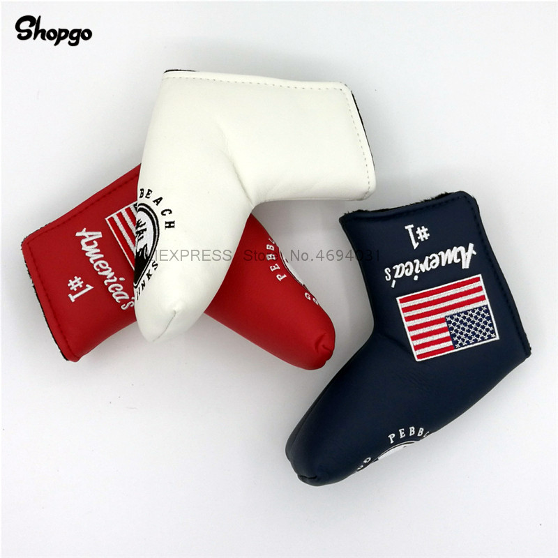 [3 Colors] America's #1 Pebble Beach Blade Golf Putter Covers Outdoor Sports Waterproof PU Golf HeadCovers For Man Women