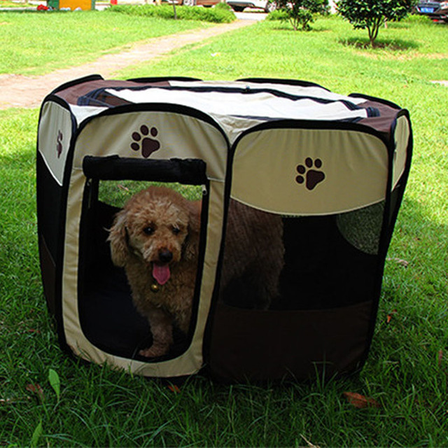 Foldable Octagonal Pet Tent Fence 600d Oxford Cloth Outdoor Dogs Pet