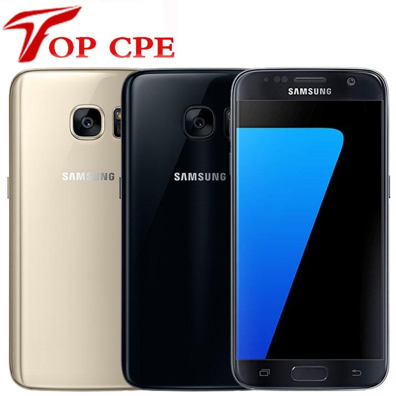 Оригинальный мобильный телефон Samsung Galaxy S7 G930F S7 EDGE G935F ОЗУ 4 Гб ПЗУ 32 Гб разблокированный LTE Android Восьмиядерный 5,1