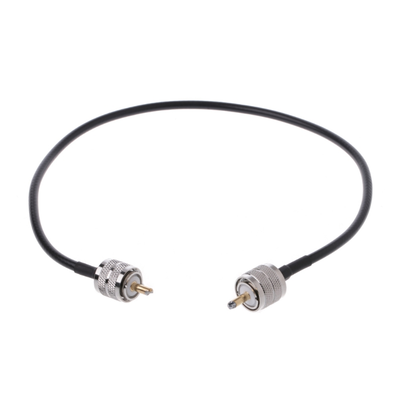 RF Coaxial Cable Connector UHF PL259 Male to UHF Male PL259 RG58 Pigtail Cable 50cm L15