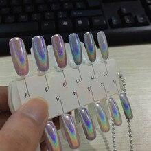 1g/box Laser Silver Holographic Shiny Powder