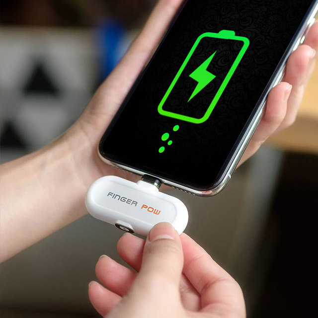 Finger pow Fast Charging Mobile Power Bank