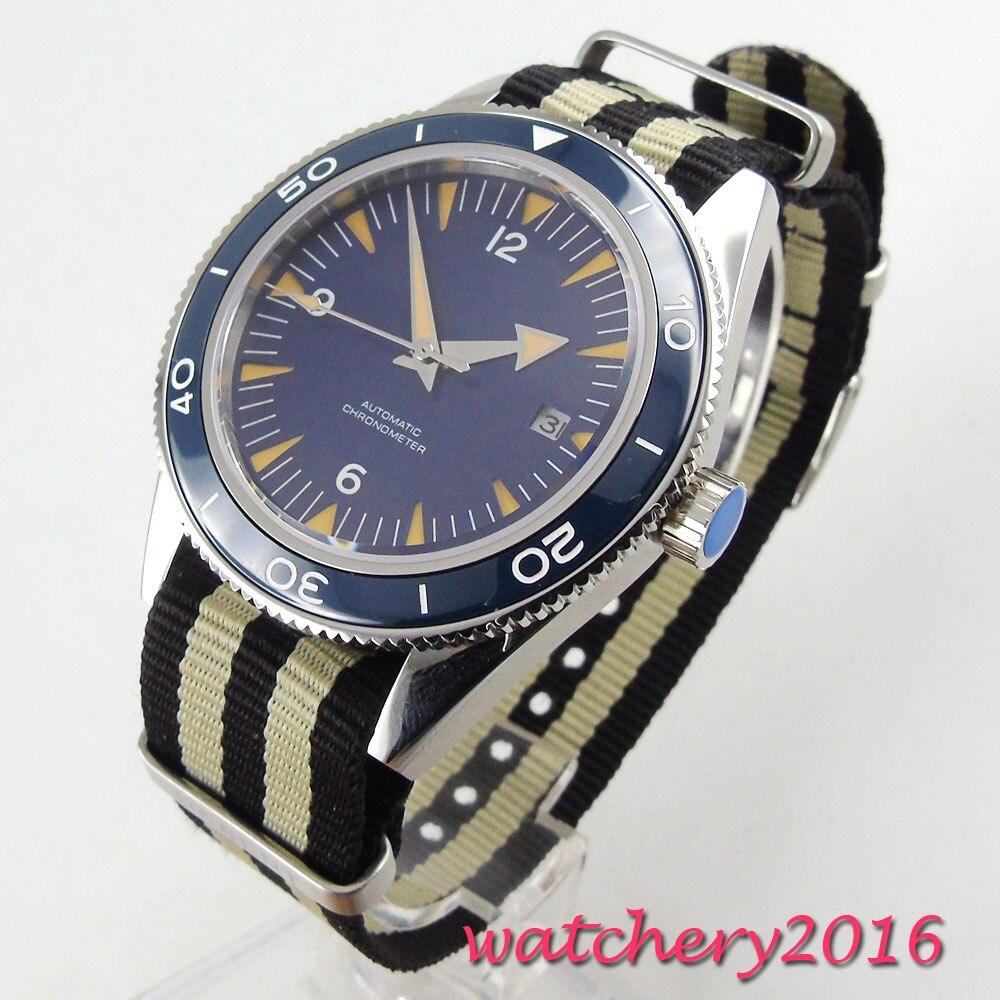 relogio masculino Debert Watch Men Military Automatic Watch Mens Watches Top Brand Nylon Miyota Sterile Wristwatch Date Clock цена