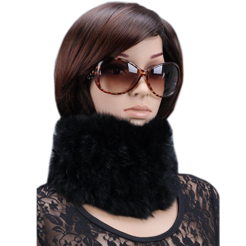 Women's New Sale Fur Scarves 100% Collar Velvet Rabbit Warm Style Woman Winter 2019 Various Color Scarf Min Order $4.9,mix Ok
