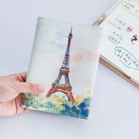 Romantic City View Watercolor Fashion Journal A6 Agenda Pocket Planner Notebook School Office Supplies Free Shipping