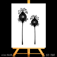 ZhuoAng Flower house Clear Stamps/Card Making Holiday decorations For  scrapbooking Transparent stamps 6*9cm