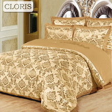 CLORIS Hot Bedclothes Noble Bedding Kit Best Cotton Duvet Quilt Covers Bed Sheet Coverlet Bed Cover King Queen Size Bedspreads