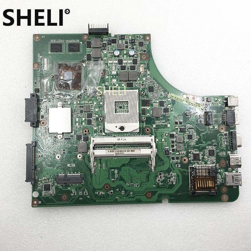 SHELI FOR ASUS K53SV Motherboard REV 2.1,2.3,3.0,3.1 X53S A53S K53S K53SC P53SJ K53SM K53SJ Laptop Motherboard 1GB HM65