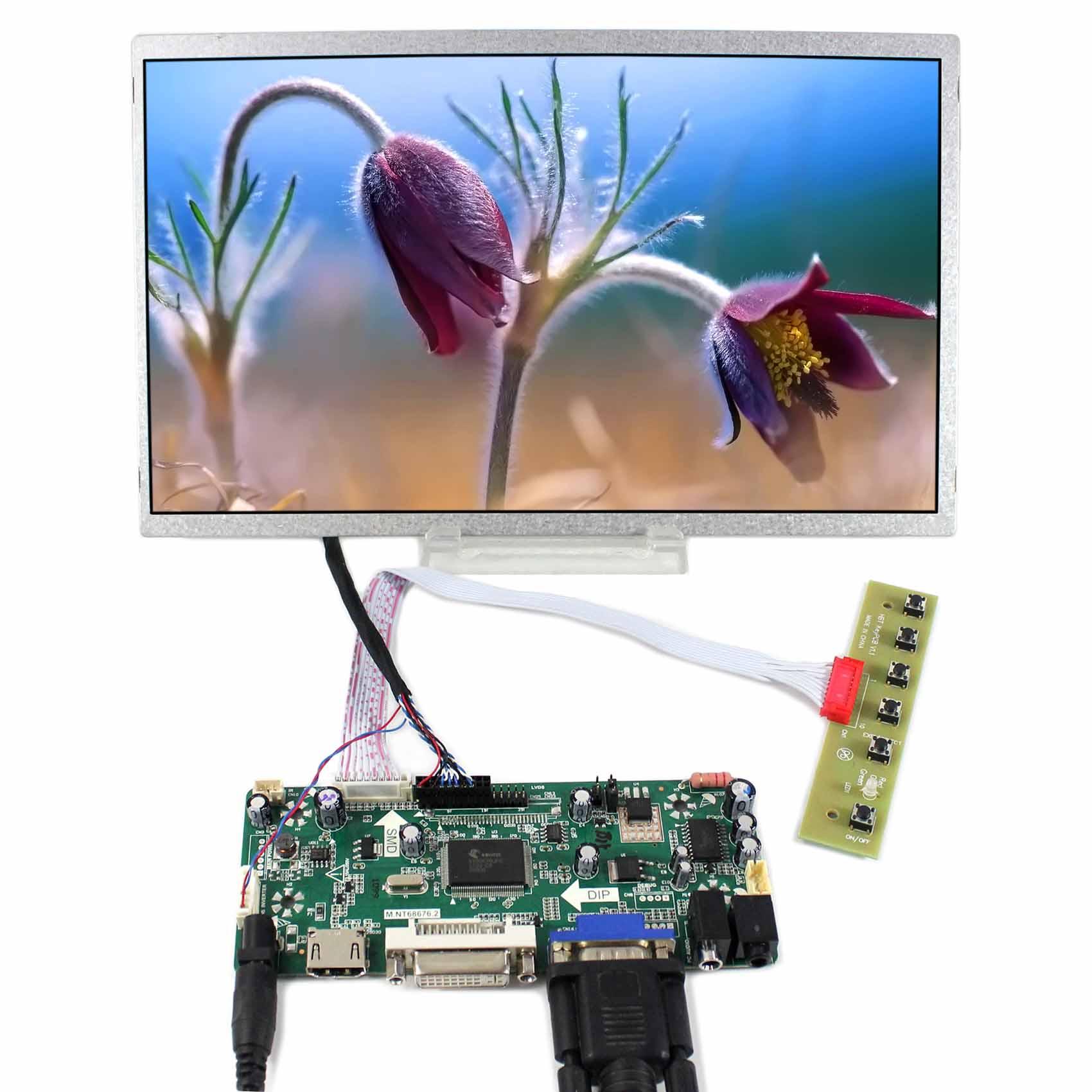 HDMI DVI VGA LCD Controller Board+11inch HSD110PHW1 1366x768 LCD Screen vga hdmi lcd controller board for lp156whu tpb1 lp156whu tpa1 lp156whu tpbh lp156whu tpd1 15 6 inch edp 30 pins 1 lane 1366x768