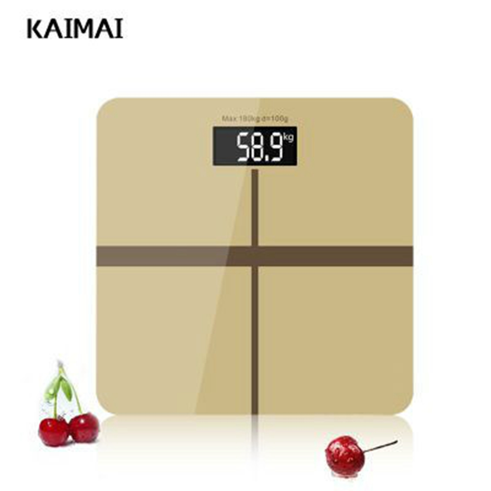 KAIMAI Bathroom floor scales smart household electronic digital Body bariatric LCD display Division value 180kg=400lb/0.1kg