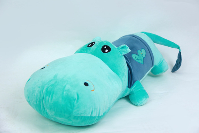 Free Shipping 120cm Toy Hippos Plush Stuffed Soft Cushions Life Size