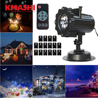 Projector Lamp Replaceable Lens 16Colorful Patterns Night Lamp Christmas Birthday Wedding Decoration Lamp Outdoor Halloween