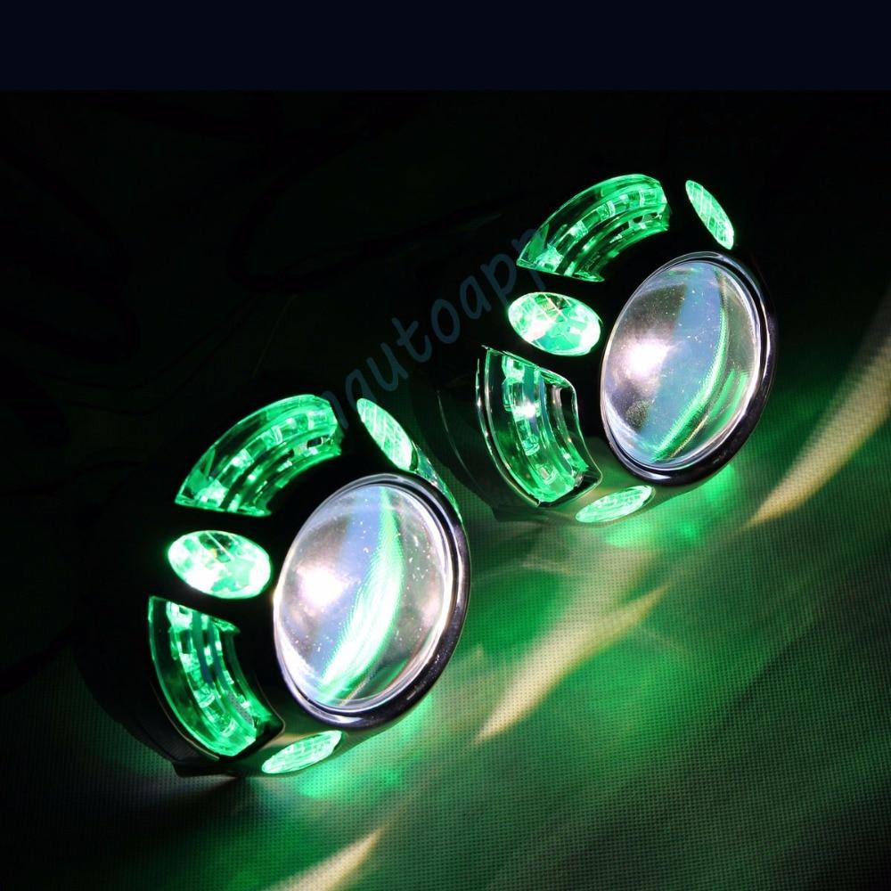 Dritat e dritës LED të automjetit RGB Angel Eyes Cover Aplikacioni - Dritat e makinave - Foto 2